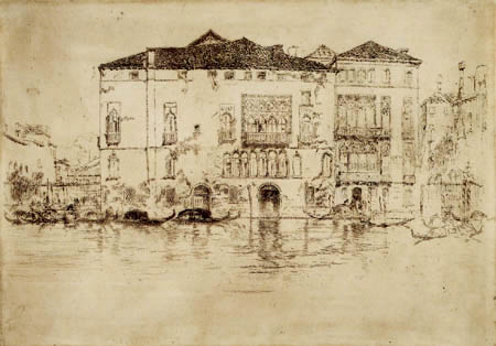 James Abbott McNeill Whistler - Palast in Venedig