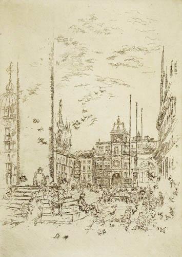 James Abbott McNeill Whistler - Die Piazzetta