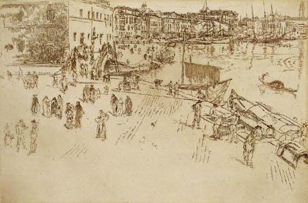 James Abbott McNeill Whistler - Im Hafen, Venedig