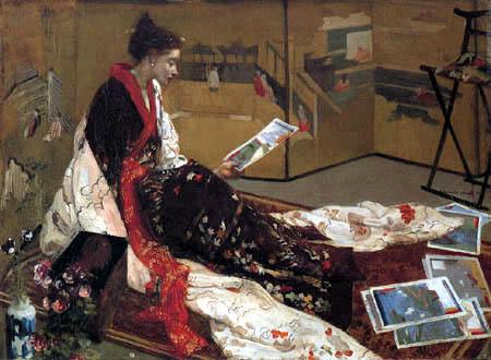 James Abbott McNeill Whistler - Der goldene Wandschirm