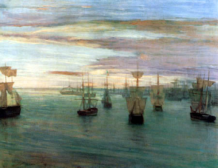 James Abbott McNeill Whistler - Segler in der Bucht Valparaiso