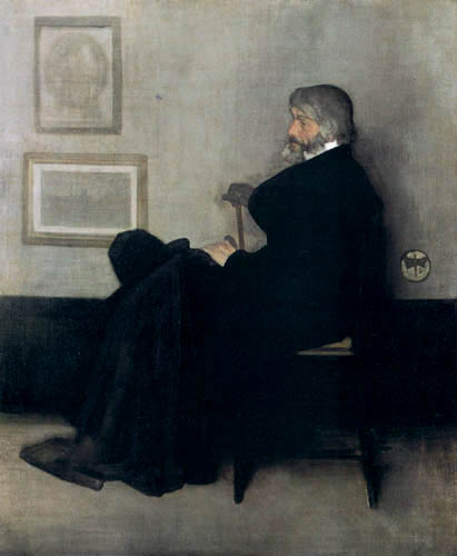 James Abbott McNeill Whistler - Porträt Thomas Carlyle