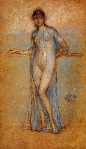 James Abbott McNeill Whistler - Dame in Blau und Violett