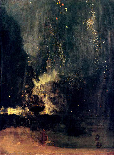 James Abbott McNeill Whistler - Nachtstück in Gold und Schwarz: Feuerwerk