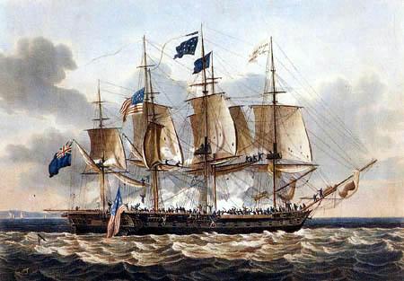 Thomas Whitcombe - Seegefecht der Fregatten Shannon und Chesapeake