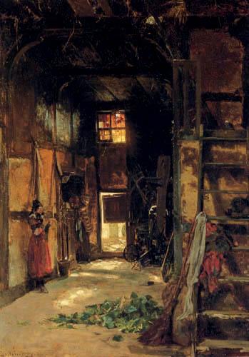 Worthington Thomas Whittredge - Im Inneren einer westfälischen Hütte