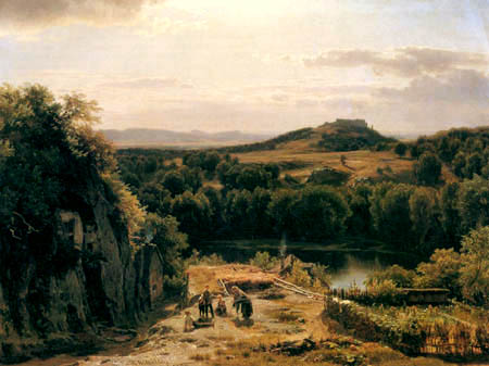 Worthington Thomas Whittredge - Landschaft im Harz