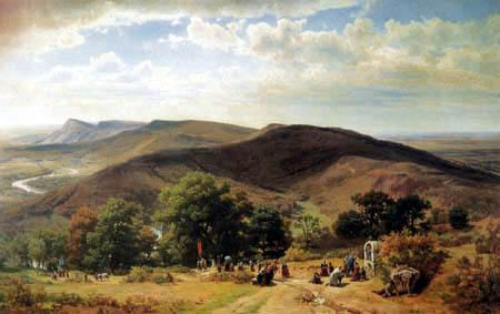 Worthington Thomas Whittredge - The Pilgrims of Saint Roch