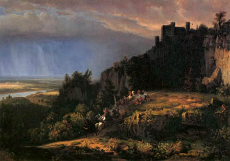 Worthington Thomas Whittredge - Kampf vor der Burg