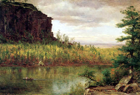 Worthington Thomas Whittredge - Flusslandschaft in Colorado