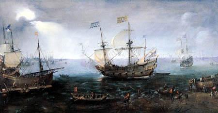 Cornelis Claesz van Wieringen - An armed cargo vessel