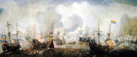 Cornelis Claesz van Wieringen - Naval battle near Gibraltar