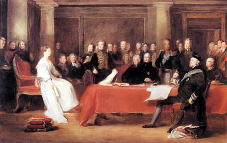 Sir David Wilkie - The First Council of Queen Victoria