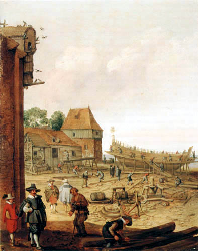 Adam Willarts - A dockyard