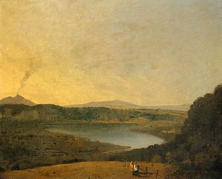 Richard Wilson R.A. - Blick auf einen See mit dem Vesuv im Hintergrund