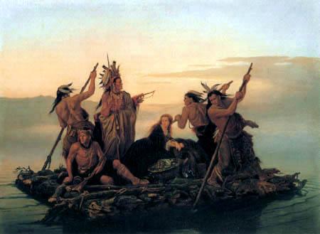 Carl Ferdinand Wimar - Indians kidnap Boones daughter