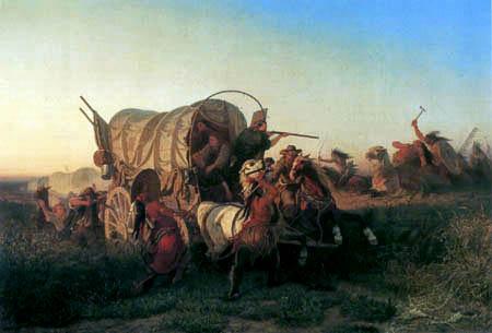 Carl Ferdinand Wimar - Attack of emigrants