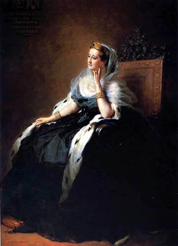 Franz Xaver Winterhalter - Porträt von Eugenia de Montijo