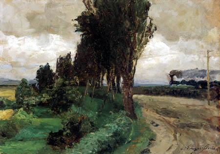 Olga Wisinger-Florian - Landscape with railway
