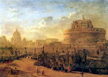 Gaspar van Wittel - Rom mit der St. Angelo Brücke