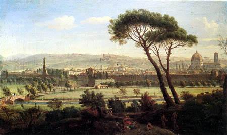 Gaspar van Wittel - Blick auf Florenz