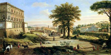 Gaspar van Wittel - Villa Aldobrandini en Frascati