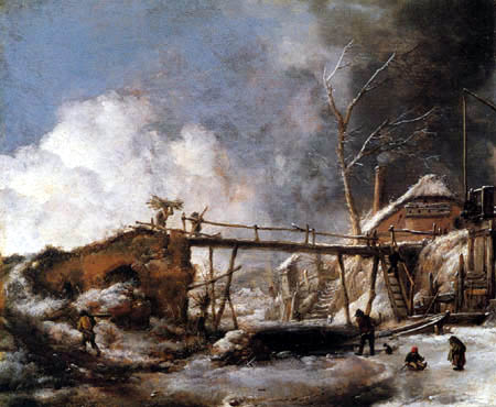 Philips Wouwermann - A Winter Landscape