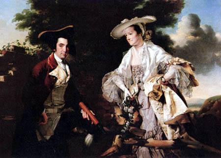 Joseph Wright of Derby - Double portrait of the married couple Burdett