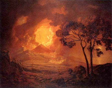 Joseph Wright of Derby - The volcanic eruption of the Vesuvius
