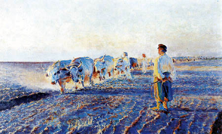 Leon Wyczolkowski (Wyczółkowski) - Fieldwork in the Ukraina