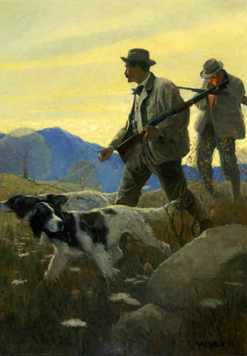 Newell Convers Wyeth - Dawn of the open season