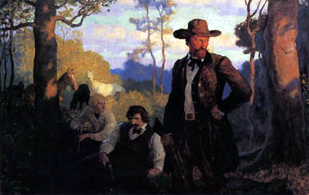 Newell Convers Wyeth - The James Brothers in Missouri
