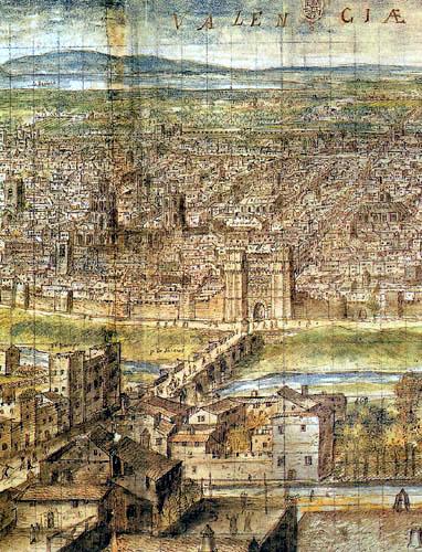 Anton van der  Wyngaerde (Wijngaerde) - Valence en siècle XVI