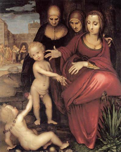 Fernando Yáñez de la Almedina - Holy Anna, Virgen and Jesus Child