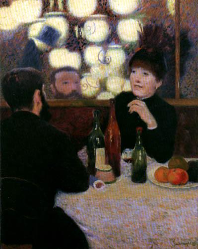 Federico Zandomeneghi - Im Café de la Nouvelle-Athèns