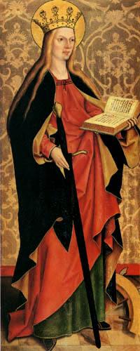 Bartholomäus Zeitblom - Hl. Katharina
