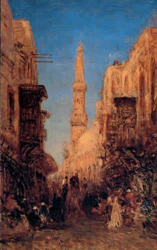 Félix François G. P. Ziem - Street in Cairo