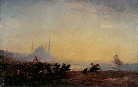 Félix François G. P. Ziem - Schlacht bei Konstantinopel