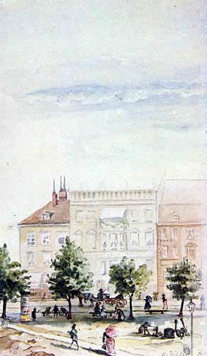 Heinrich Zille - Old Berlin, view of the Dönhoffplatz