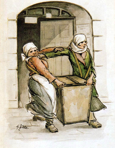Heinrich Zille - Women by the refuse collection