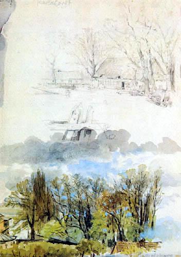 Heinrich Zille - Landscape studies