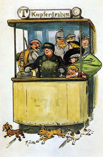 Heinrich Zille - Driver of the tram