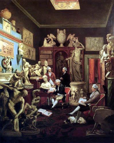 Johann Joseph Zoffany (Zauffaly, Zoffani) - The library of Charles Towneley