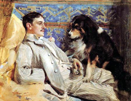 Anders Leonhard Zorn - Portrait of Clarence Barker