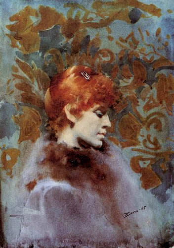 Anders Leonhard Zorn - Portrait of Miss Law