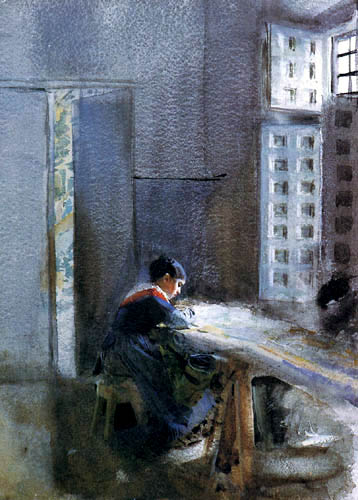 Anders Leonhard Zorn - Interior of a factory, Madrid