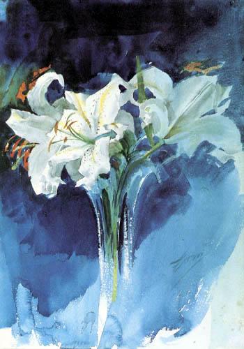 Anders Leonhard Zorn - Weiße Lilien