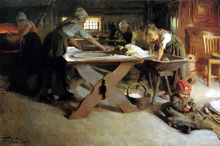 Anders Leonhard Zorn - Baking Bread