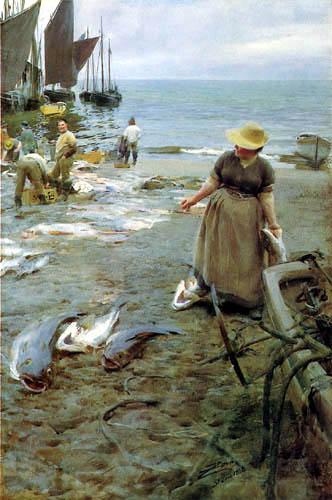 Anders Leonhard Zorn - Fish market near St. Ives