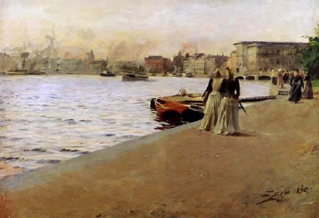 Anders Leonhard Zorn - Blick vom Skeppsholmskai
